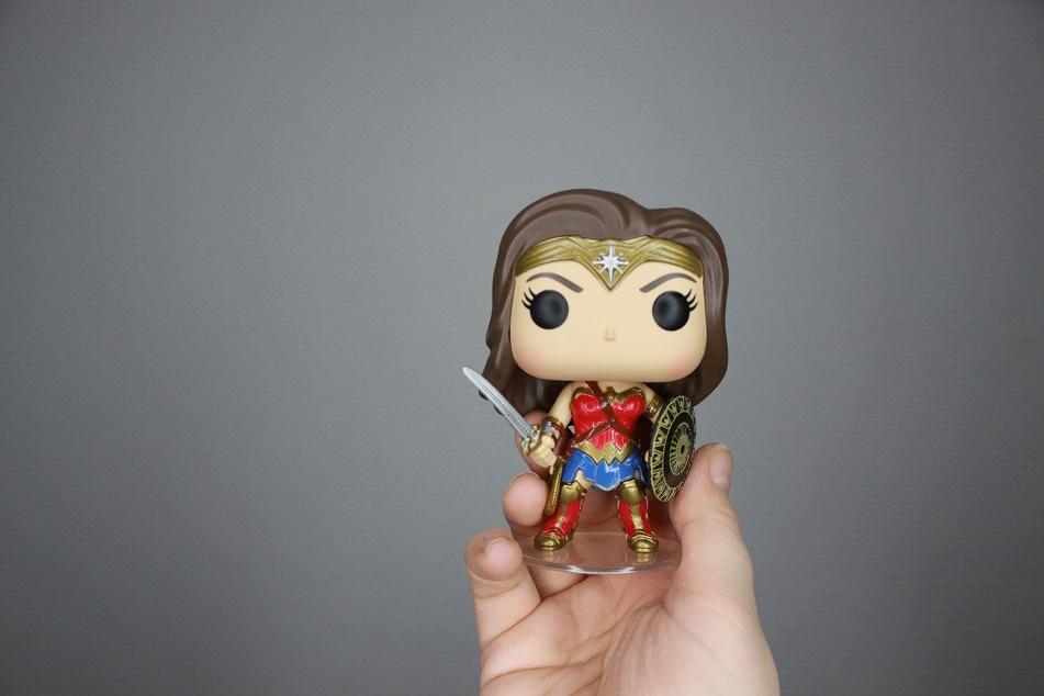 Eine Funko-Pop-Figur von Wonder Woman. Foto: Lilli/geek's Antiques
